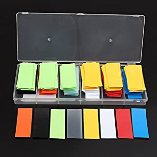 AUAUDATE 280pcs PVC Hitze Schrumpfschlauch Assortierte Farbe für Li Ion 18650 18500 Akku Batterie