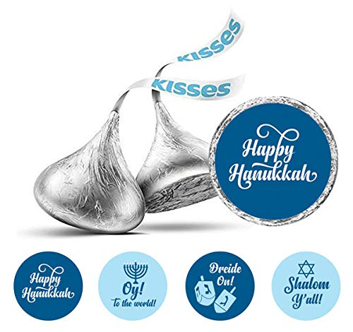 Hanukkah Jewish Aufkleber 190 PC DIY Hershey Kisses Schokolade Labels-Blau ()