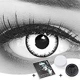 Farbige Kontaktlinsen 1 Paar weisse schwarze