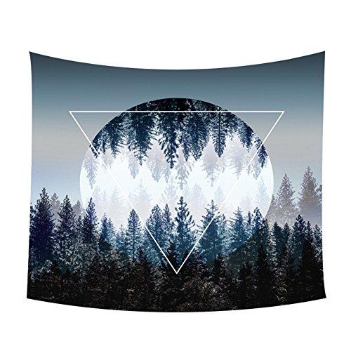 Leisial Tapisserie Mandala Stranddecke Bohemian Wandteppich Strandtuch zum Aufhängen für Schlafzimmer Küche, Polyester, Style - A, 150x130cm