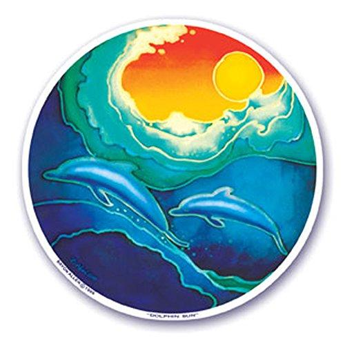 mandala-arts-colorful-vinile-adesivo-finestra-114-cm-doppio-delfino-sun-by-bryon-allen-s8
