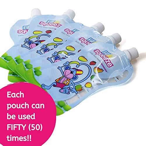 Füllen Sie n Squeeze Nachfüllpackung wieder verwendbare Lebensmittel Beutel für Baby Entwöhnung & Kleinkind Lebensmittel