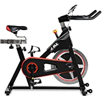 JLL® IC300 Indoor Cycling Exercise Bike 2020, Cardio Workout, 18KG Flywheel Smooth Cycling, Adjustable Handlebars & Seat, Heart Rate Sensors & On Board Computer Reads Speed, Distance, Time, Calories + Pulse