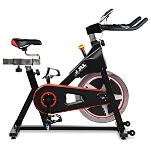 JLL® IC300 Indoor Cycling™ exercise bike, Fitness Cardio workout with adjustable resistance,18Kg flywheel which allows a smooth ride,Ergonomic adjustable handle bar and fully adjustable seat.12 months Home Warranty warranty (Black)