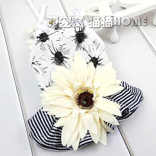 Kostüm Sonnenblume Für Hunde - lipanpan Sonnenblume Hund Kleidung Sommer Haustier Kostüm Frühling Sommer Teddy Rock Prinzessin Sling Katze Kleiner Hund