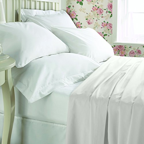 My Cotton Home Flach Bettwäsche Perkal 100% ägyptische Baumwolle-Fadendichte 300, natur, Single (195x260cm) - Ägyptische Baumwolle Single