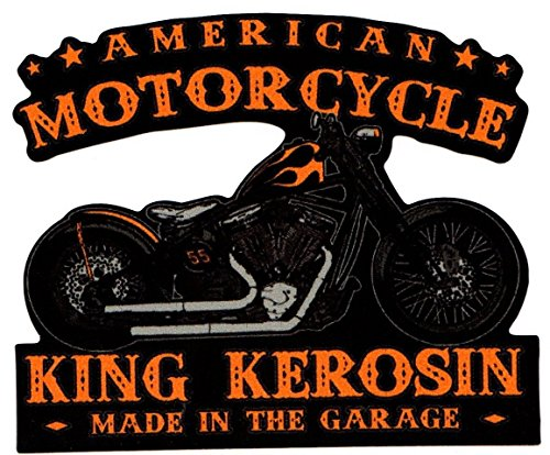 King Kerosin < AMERICAN MOTORCYCLE > adesivi / STICKER USW.