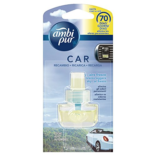 Ambi Pur Car Brezza Leggera Deodorante per Auto, Ricarica 7 m