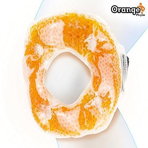 Premium Kühlkompresse fürs Knie und den Ellbogen (Für die Schmerzlinderung, Hitze- und Kältetherapie). Von Orange Physio