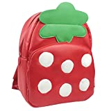 Kobwa(TM) Red Strawberry PU Leather Animal Backpack Schoolbag for Children With Kobwa's Keyring