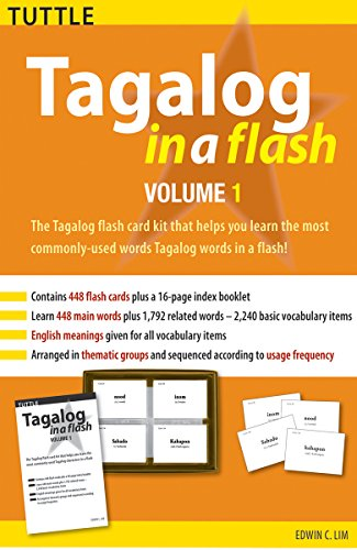 Tagalog in a Flash Kit, Volume 1 (Tuttle Flash Cards)