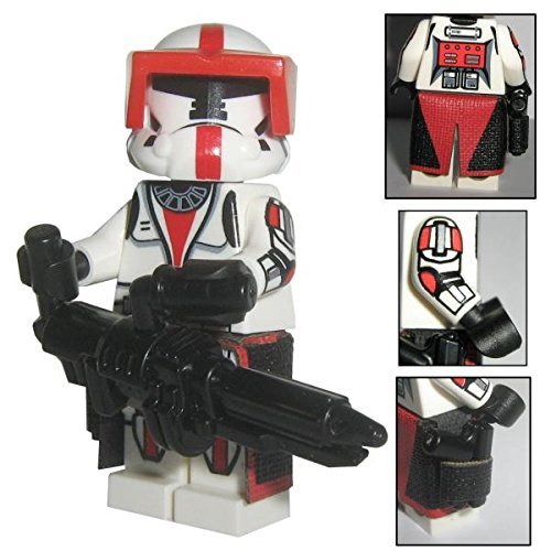 (Custom Brick Design CBD Rep. Senat Heavy Commando Clone Trooper Figur gefertigt aus Lego Star Wars & Custom Teilen)