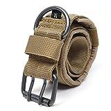sgerste Nylon Tactical Hund Halsband Military verstellbar Training Hundehalsband mit Metall D Ring Schnalle Größe L braun
