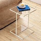 PlexCollection Table téléphone plexiglas Transparent Table Moderne Table Effet Verre