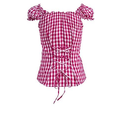 Trachtenbluse Carmen in pink von Almsach Pink