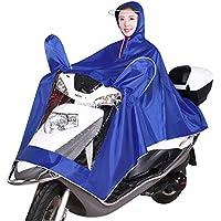 LVZAIXI hombres y mujeres individuales Montar un poncho impermeable para motocicleta ( Color : Azul , Tamaño : XXXL )