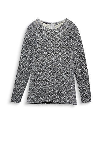 ESPRIT Collection Damen Langarmshirt Grau (Gunmetal 5 019)