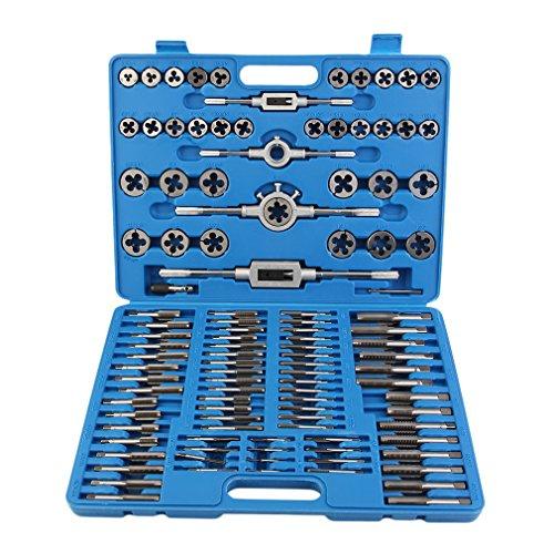 Binghotfire Gewindeschneider Satz 110tlg Fein Gewinde Bohrer Gewindeschneidsatz Werkzeug Metrisch M2-M18 Set