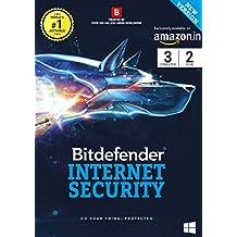 BitDefender Internet Security Latest Version (Windows) - 3 User, 2 Years (Voucher)