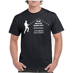 Camisetas divertidas Child molestes Cuando Estoy pescando a no ser Que traigas Cerveza - para Hombre Camisetas Talla XL Color Negro