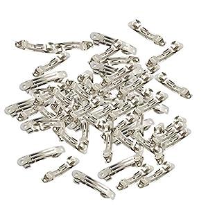 D DOLITY 10/50 Packung aus Metall Silber Französisch Barrette Haarspangen für Handwerk Bögen – 50pcs 4cm