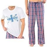 Produkt-Bild: UNCOVER by SCHIESSER,, Set: Herren Schlafanzug: Schlafanzugshose lang+ Schlafshirt, clean white+blue depths, 137523+137526