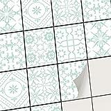Carrelage Autocollant - recouvrir carrelage Salle de Bain et Carreaux Cuisine I Film adhésif décoratif - Stickers carrelage (15x20 cm I 6 - Pièces)