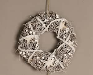 dekokranz estrella t rkranz holz filz stern weihnachten d35cm k che haushalt. Black Bedroom Furniture Sets. Home Design Ideas