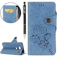 Huawei Honor 5X Hülle,Huawei Honor 5X Ledertasche Handyhülle Brieftasche im BookStyle,SainCat Schön Retro 3D Eine... preisvergleich bei billige-tabletten.eu
