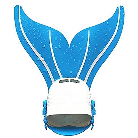 Sijueam Monofin Mermaid tail Flipper Soft Silicone Diving Snorkel Fin Freestyle Butterfly Backstroke Dolphin kick Swimming Professional Training Equipment for Adults