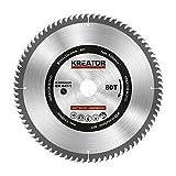 KRT020429 Hartmetall Kreissägeblatt für Holz Ø254mm Bohrung 30mm Dicke 3mm Zähne 80 Holzsägeblatt mit 3 Reduzierringe