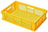 NIPS 105034108 Stapelbehälter/ Bäckerkiste, Seiten Durchbrochen, 60 x 40 x 15 cm, gelb