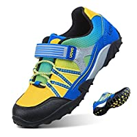 Boys Trainers Tennis Shoes Kids Fastening Running Shoes Outdoor Trekking Hiking Sneakers Blue Size 9