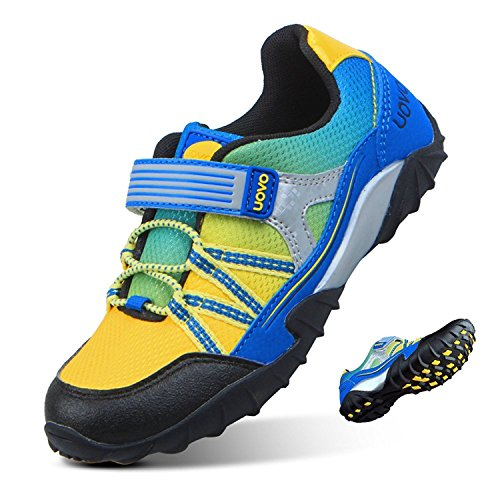 Boys Trainers Tennis Shoes Kids Fastening Running Shoes Outdoor Trekking  Hiking Sneakers Blue Size 8.5 fd1756e3637