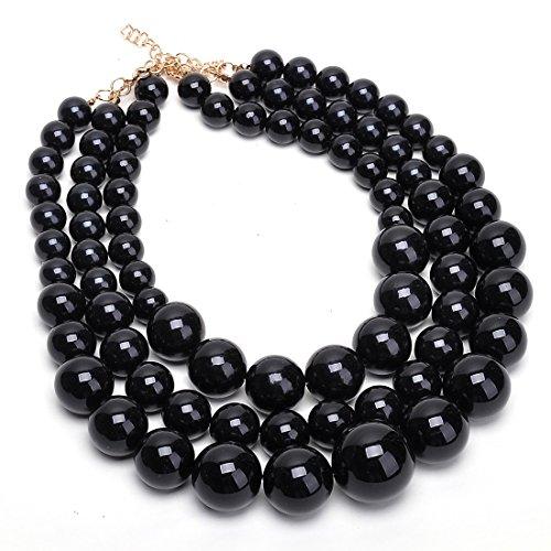 Jerollin-Schwarz-Perlenkette-Kette-Collier-Halskette-echte-Perlen-creme-weiss-Halsschmuck-Damen