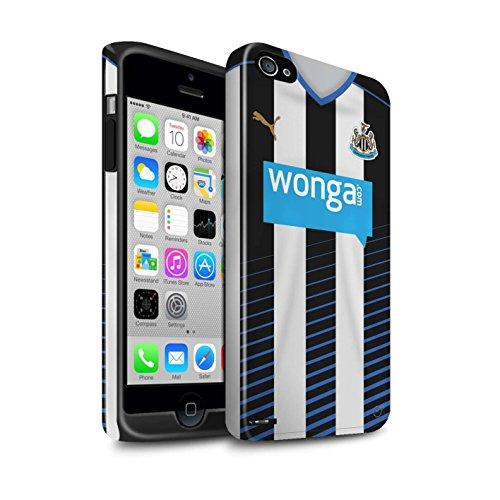 Offiziell Newcastle United FC Hülle / Glanz Harten Stoßfest Case für Apple iPhone 4/4S / Pack 29pcs Muster / NUFC Trikot Home 15/16 Kollektion Fußballer