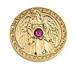 Engeltaler Harmonie Schutzengel Talisman 24kt vergoldet mit Swarovski Elements, Ø 27mm, Glücksbringer Glücksmünze Engel Bild