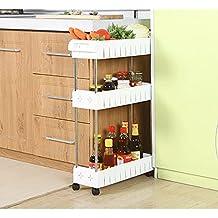 AIYoo brecha cocina Slim Deslice almacenamiento torre Rack--3 Tier funda para rack de