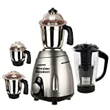 SILENTPOWERSUNMEET Metallic 1000 Watts Mixer Juicer Grinder with 4 Jar (Grey)