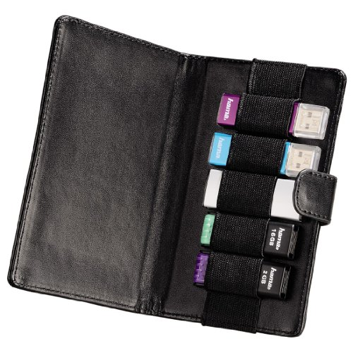 Hama Vegas USB-Speicherstick Case für 5 Speichersticks schwarz -