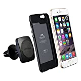 Car Holder with Free iPhone Cover, Mpow Grip Magic 360 Degree Universal Air Vent Car Mount Holder with Built-in Metal Plate iPhone 6/6S Case and Two Adhesive Metal Plates for iPhone 6S/6 Plus,LG,Sony, HTC and Other Smartphones