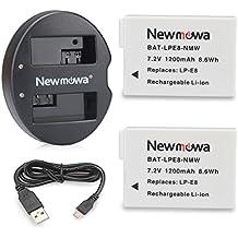 Newmowa LP-E8 Batteria (confezione da 2) e Doppio Caricatore Rapido per Canon LP-E8 and Canon EOS Rebel T2i, EOS Rebel T3i, EOS Rebel T4i, EOS Rebel T5i