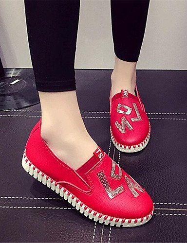 ZQ gyht Scarpe Donna-Mocassini-Tempo libero / Sportivo-Comoda-Piatto-Finta pelle-Nero / Rosso / Bianco , red-us9 / eu40 / uk7 / cn41 , red-us9 / eu40 / uk7 / cn41 red-us9 / eu40 / uk7 / cn41