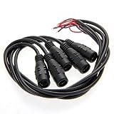 5x DC Cavi Connettori Adattatori Spine Femmina 2,1x5,5mm per CCTV Videocamera