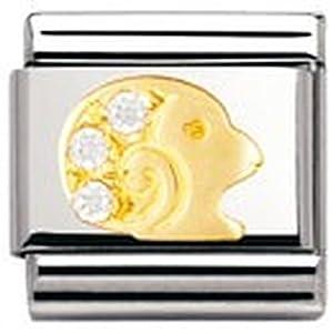 Nomination Comp. Classic STERNZ. Edelstahl, 18K-Gold und Cubic Zirc. (Widder) 030302