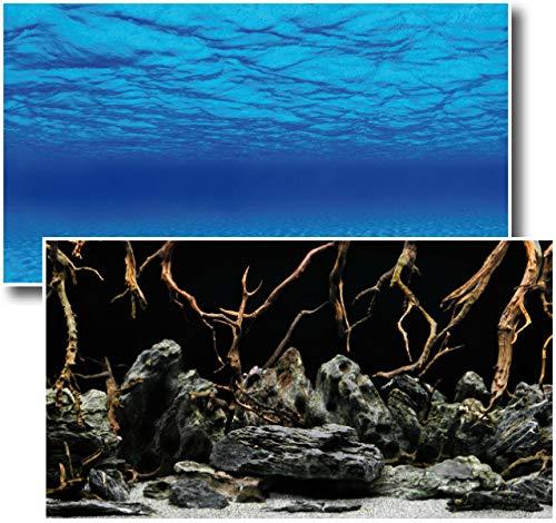 Fotorückwand Mystic beidseitig Bedruckt 150x60cm 2in1 Rückwandposter Rückwand Folie Aquarien Poster Foto Folien