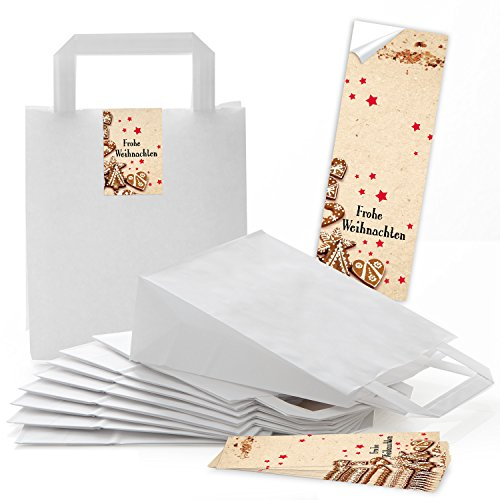 10bolsas de bolsas de papel de regalo