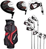 Wilson Prostaff HL Mens Complete Golf Club Set & 2014 Prosaff Cart Bag All Graphite Right Hand