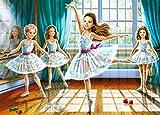 Puzzle 260 Teile - kleine Ballerinas / Tänzerinnen - Zeichnung - Gemälde - Romantisches Motiv - Prima Ballerina Tanz / Ballett - Balletttänzer - Klassik - Mäd..