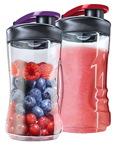 AEG ASBEB2 Flaschen für Minimixer im Doppelpack (Tritan Trinkflasche, 0,3 Liter, Trinkverschluss, spülmaschinenfest, bruchfest, für Kaltes und Heißes, passend für Sport Mini Mixer, transparent)